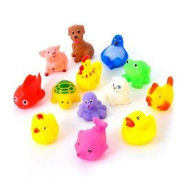 Colorful Soft Rubber Animals Bathing Toy Set