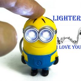 Mini Minion Keychains With Light Function
