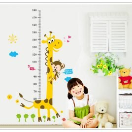 Cute Height Chart Wall Sticker