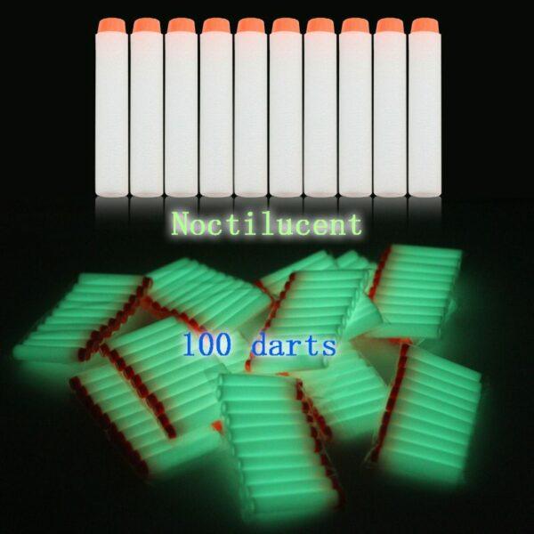 glow in the dark nerf darts
