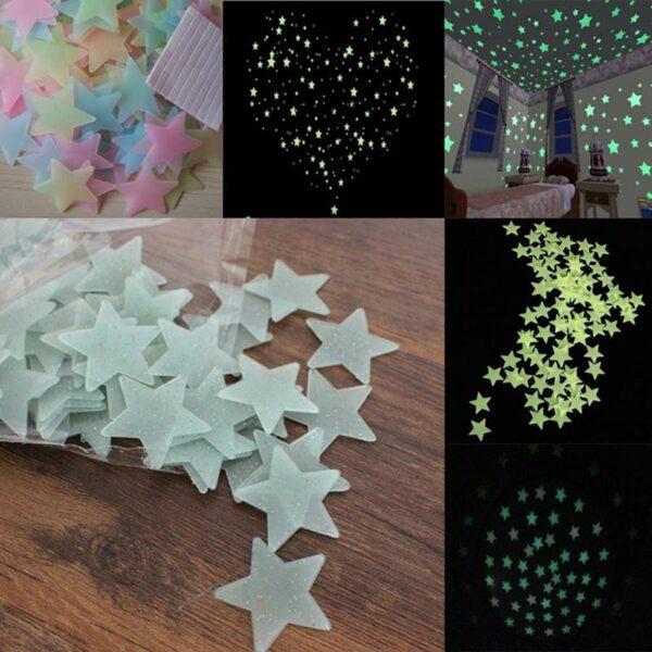luminous star stickers