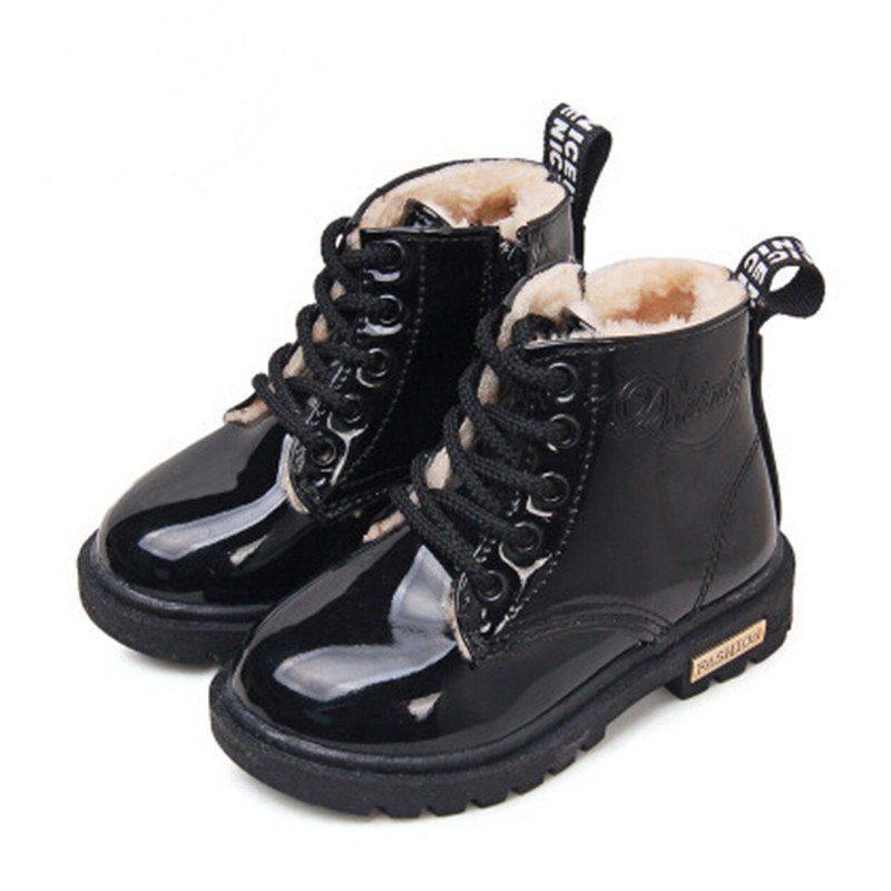 Winter Doc Martin Style Fur Boots Kidsbaron