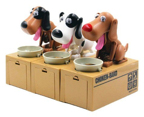 dog coin money box
