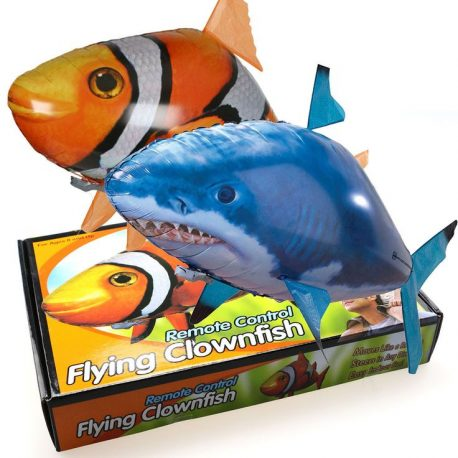 remote controlled air swimmer shark clownfish