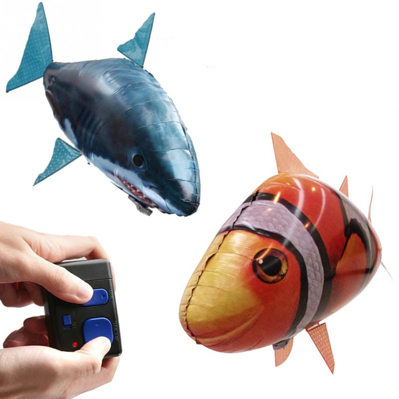 Remote control air swimmers swimming through the air for Remote control air swimming fish