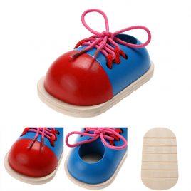 Montessori Shoelace Tying Learner