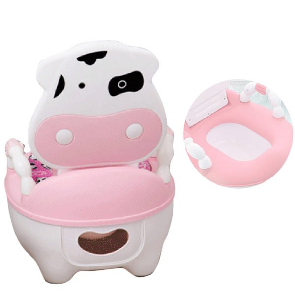 cute cow potty training seat toilet for boys and girls blue pink