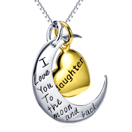 Moon And Back Necklace Son/Daughter