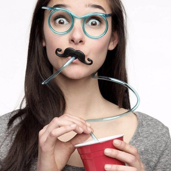 straw glasses