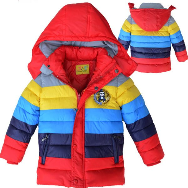 red variation of our new rainbow jackets for boys and girls