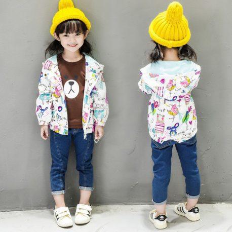 Spring and Summer Lollipop coat for girls super leightweight