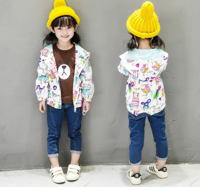 Spring and Summer Lollipop coat for girls super leightweight