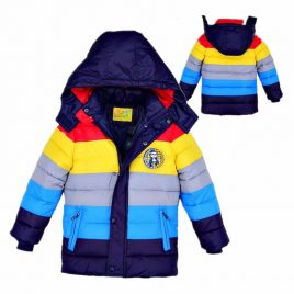 front and back view of our new rainbow jacket for boys and girls