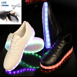 NEW 2017 USB Rechargable LED Shoes for Kids