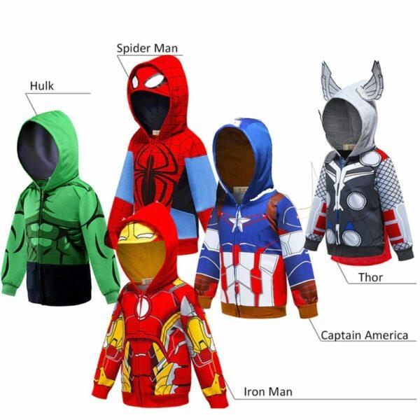 new super hero zip hoodies Thor captain America hulk Spiderman ironman