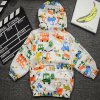 graffiti spring coat white with cars