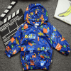 graffiti summer jackets for boys blue cars