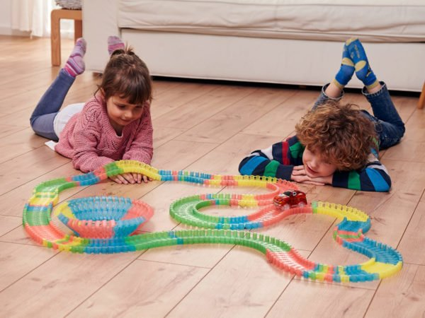 Glowing Race Tracks Extension Set 162 pieces