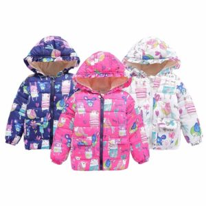 Lollipop Winter Coat in Blue, Pink or White