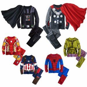 super hero suit pajamas