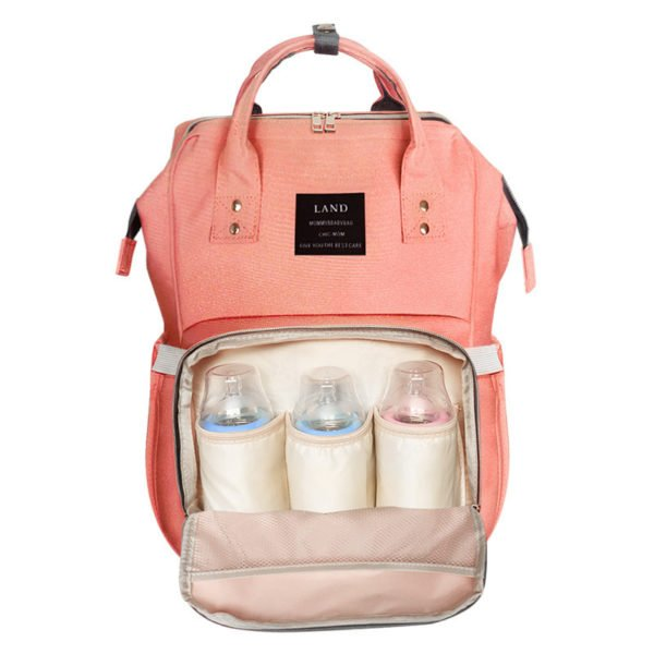 designer nappy bag peach orange