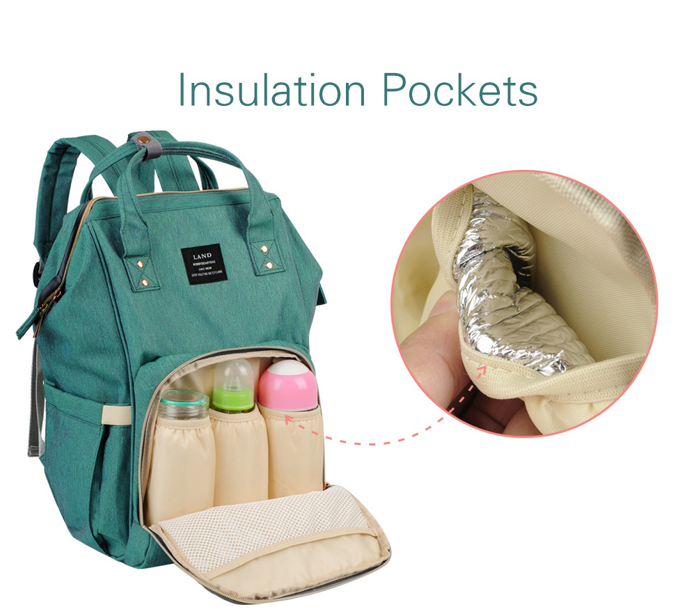 diaper bag nappy bag insulated pockets