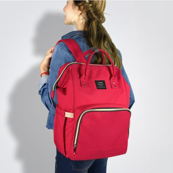 diaper bag nappy bag shoulder red
