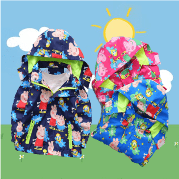 peppa pig jacket spring summer boys and girls