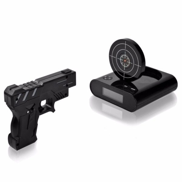 sniper alarm clock black