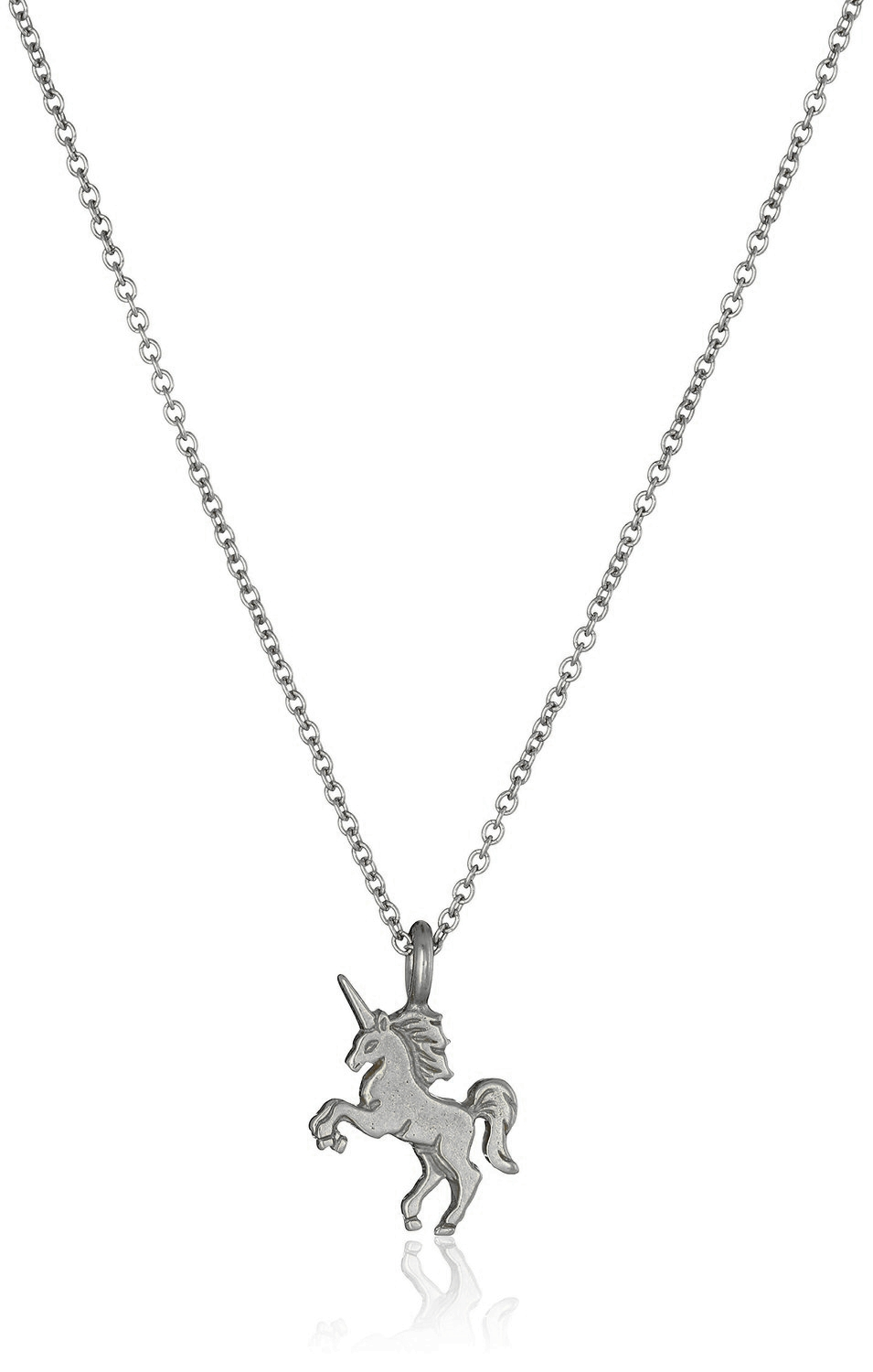 16 inch magical unicorn necklace in silver