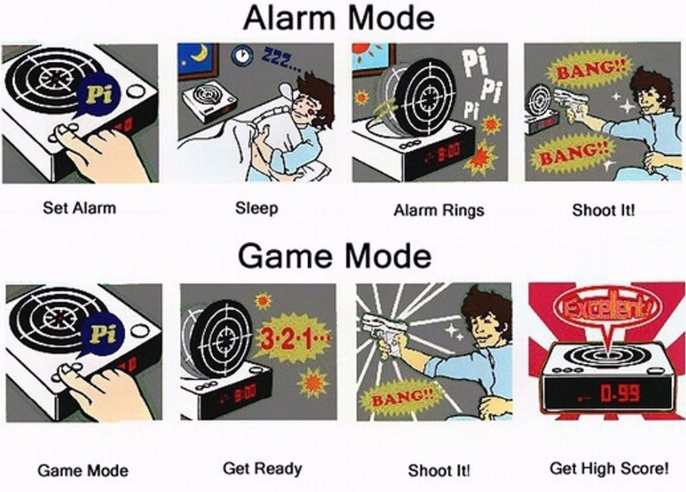 sniper alarm clock alarm mode game mode