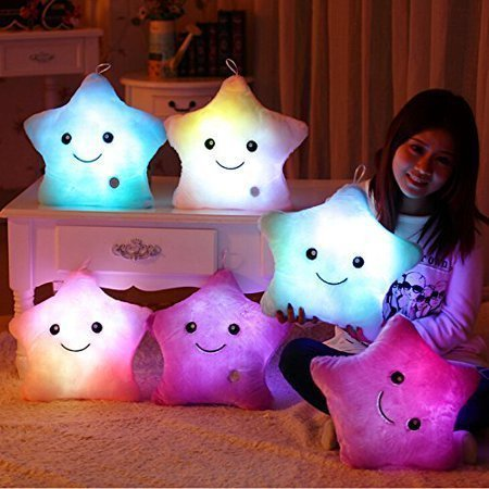 glow led star pillow