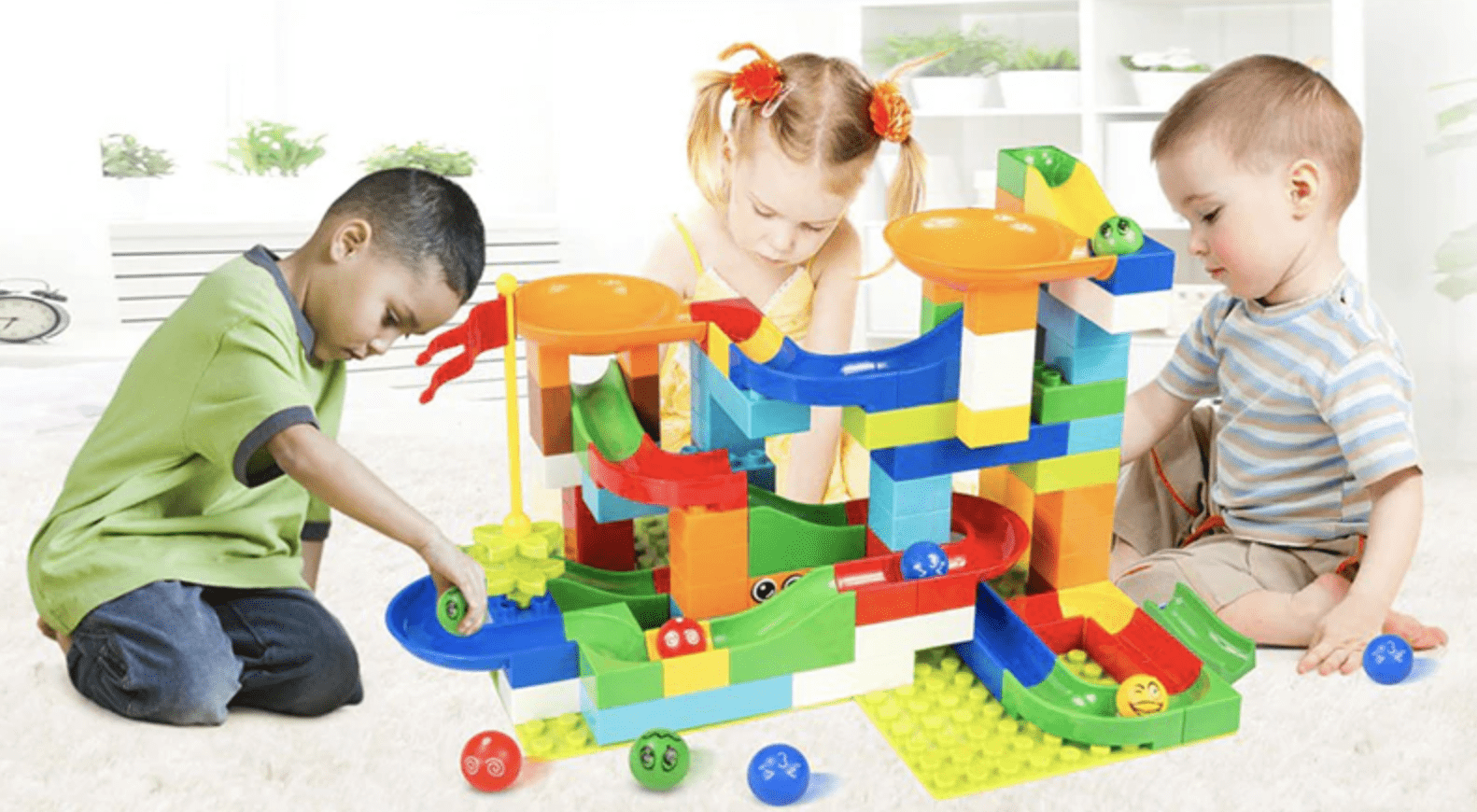 marble race set building blocks