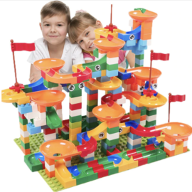 marble race set building blocks lego style