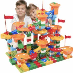 marble race set building blocks lego style