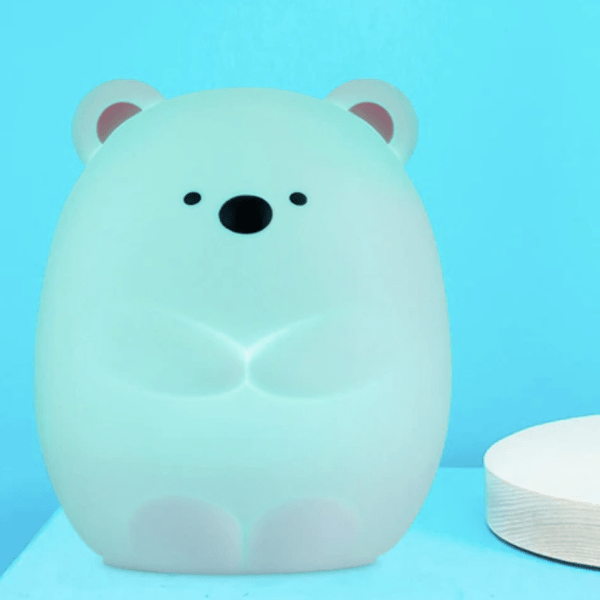 squishy bear night light