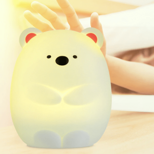 silicone usb LED bear night light