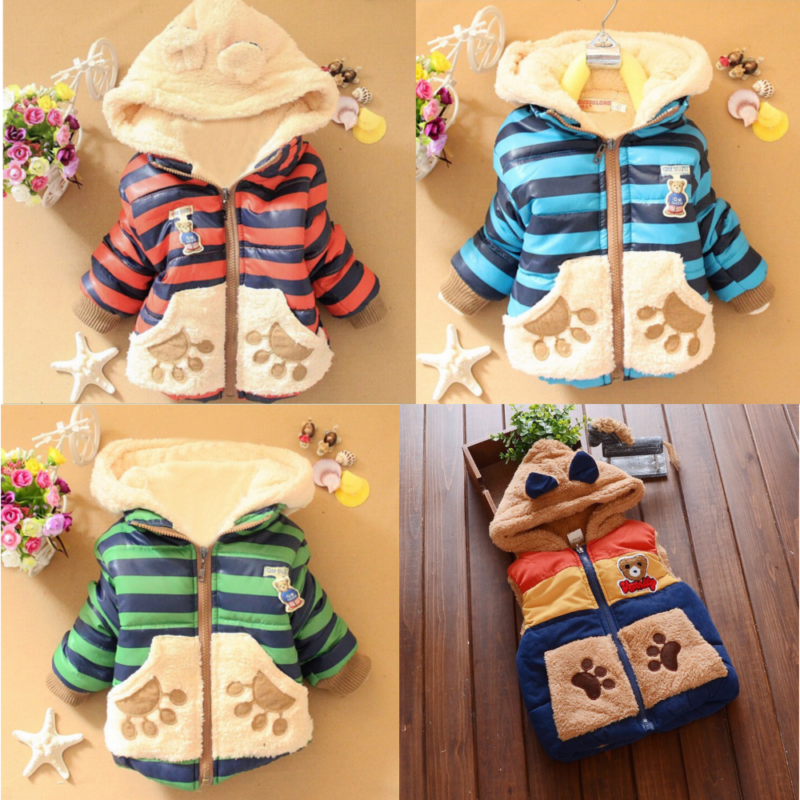huge bear jacket and vest for kids