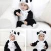 panda onesie costume romper for kids