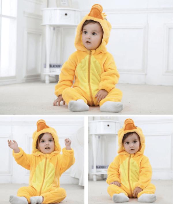 duck costume romper for kids