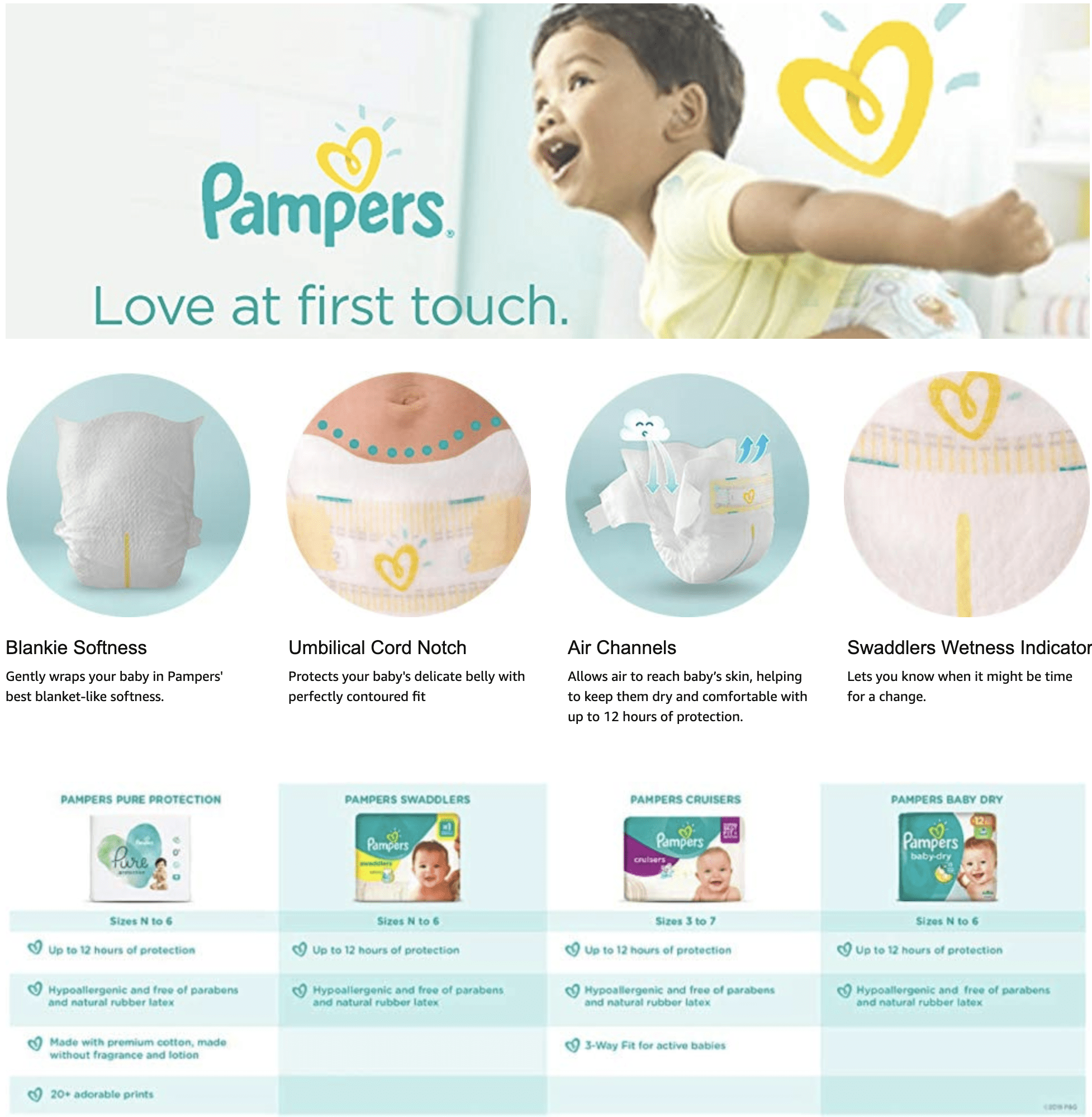 pampers saddlers benefits