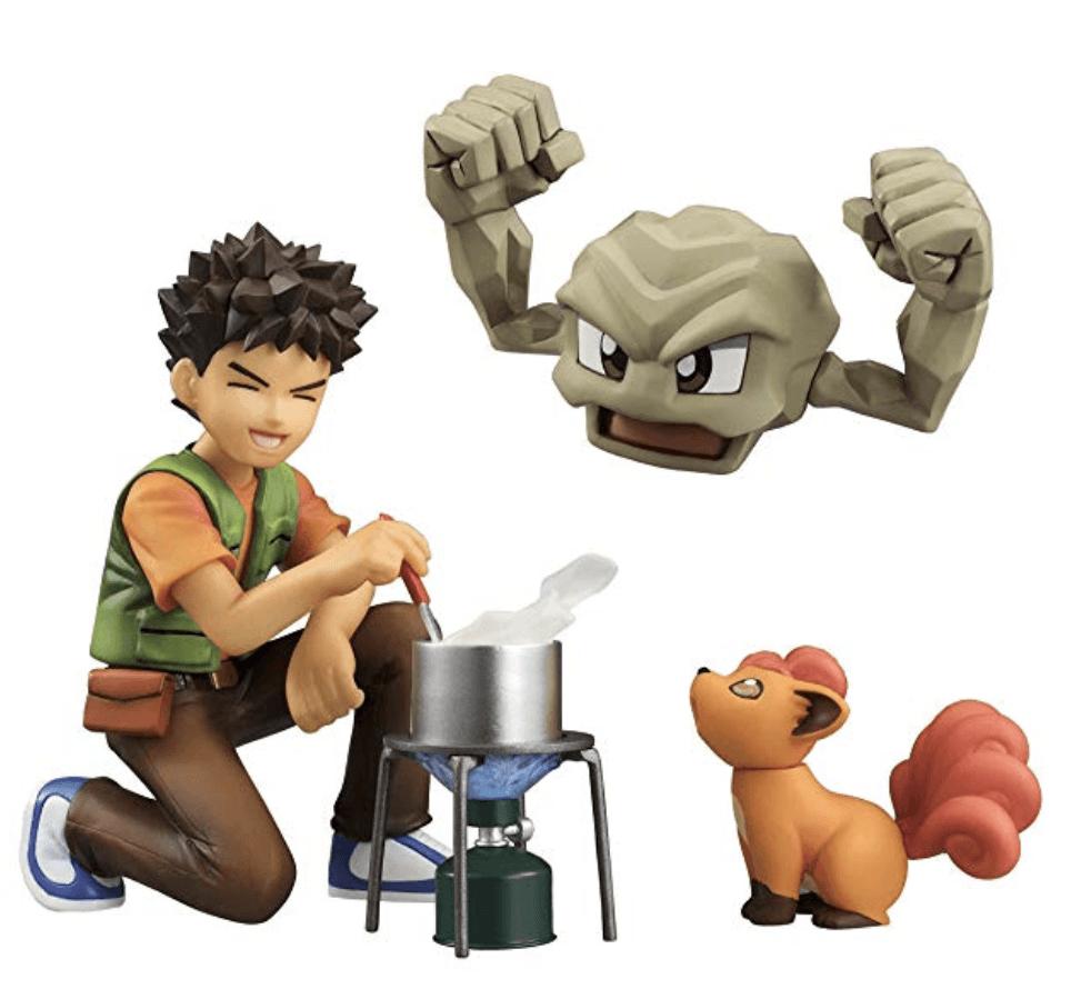 Brock, Geodude & Vulpix PVC Figures