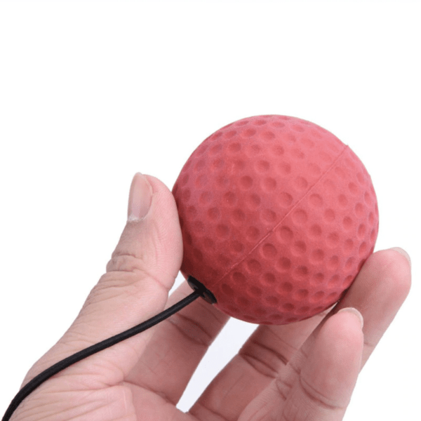 hand holding a red reflex ball
