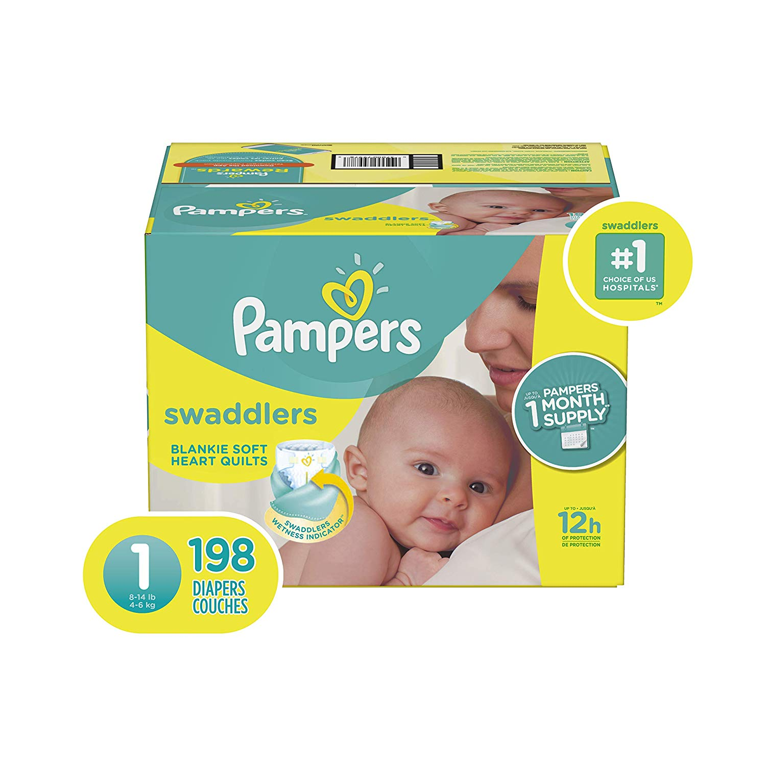 Pampers Swaddlers Baby Diapers - ONE MONTH SUPPLY | KidsBaron