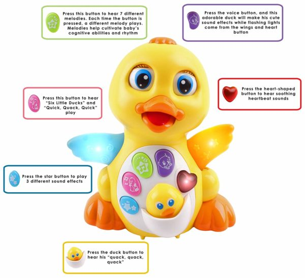 buttons dancing duck educational toy