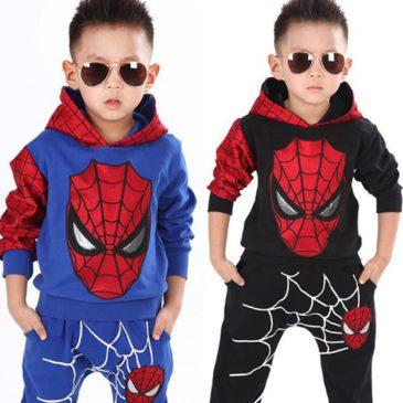 spiderman tracksuit for kids back or blue