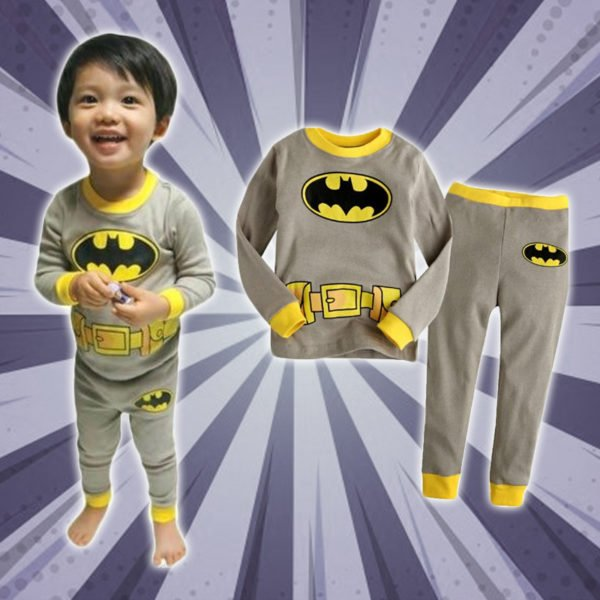 Cozy Cartoon Character Suit / Pajamas - Batman