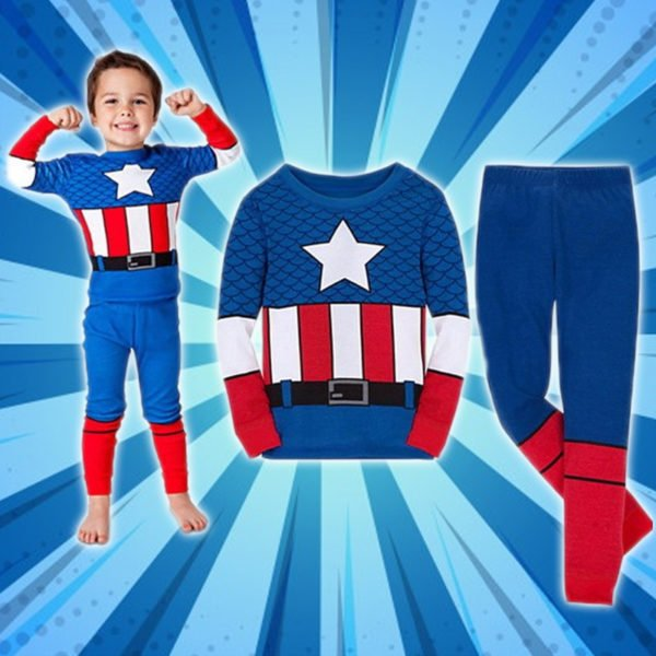 Cozy Cartoon Character Suit / Pajamas - Captain America