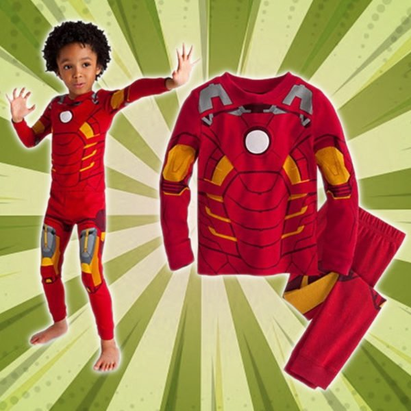 Cozy Cartoon Character Suit / Pajamas - Ironman