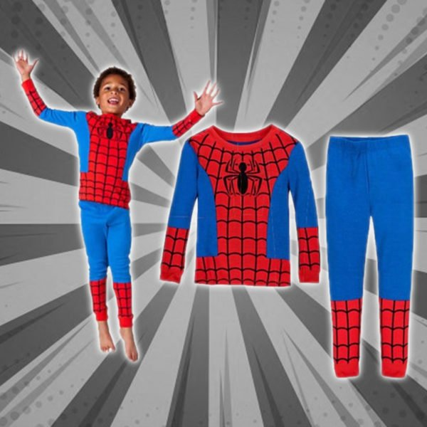 Cozy Cartoon Character Suit / Pajamas - Spiderman